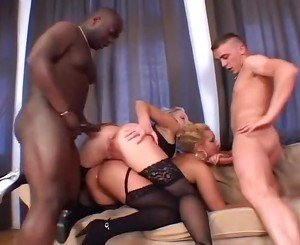 Blonde Milfs Invite Couple Of Guys