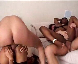 Two hot ebony chicks got to play