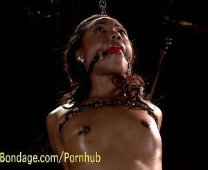 Ebony Submissive Loves Torment and