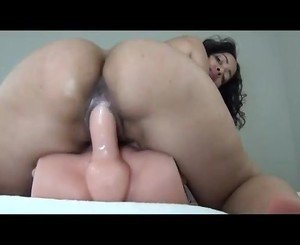 Sexy Ebony Dildo Ride
