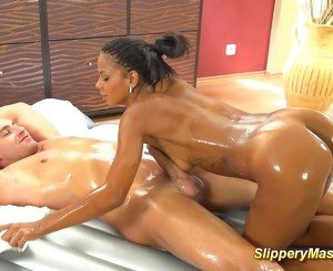black teens slippery footjob