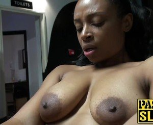 Amazing big tits ebony Lola playing
