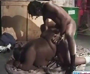 Homeless BBW Ebony Fucks For Money