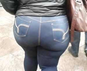 Bbw Ghetto Nig Booty In Jeans