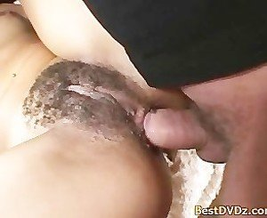 Tight hairy snatch and ass fucked