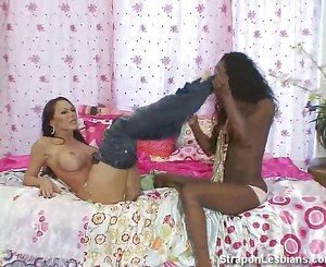 ebony girl punished with strapon
