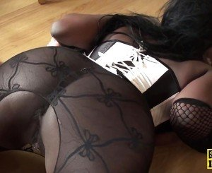 Ebony subslut assfucked and