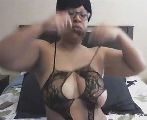 Busty Black Mommy Pounds Squirty