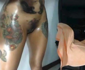 Sexy Oily Playing Big Fake boobs