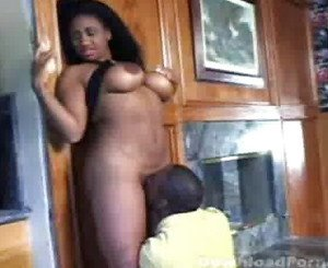 Ebony beauty getting eaten out and